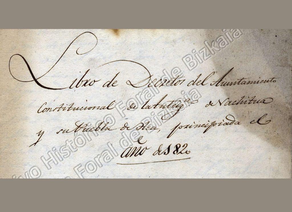 Libro de Decretos. Año 1820